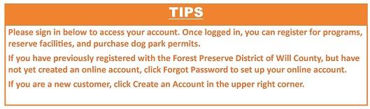 Login Page Tip
