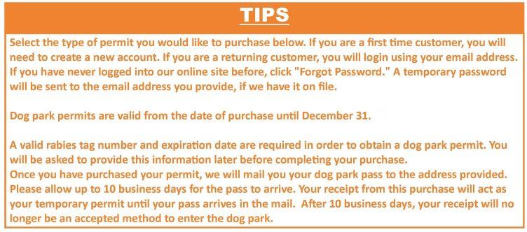 dog park tip