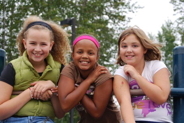 Day Camp Green Thumb Gardeners Three Girls Photo