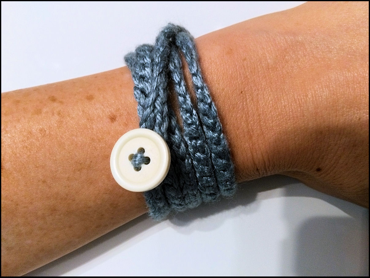 Crocheted Wrap Bracelet Example