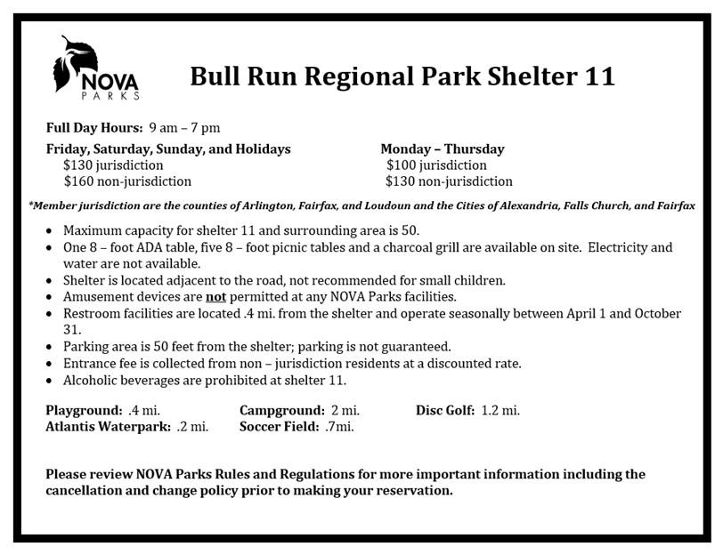 Bull Run Shelter 11 Details