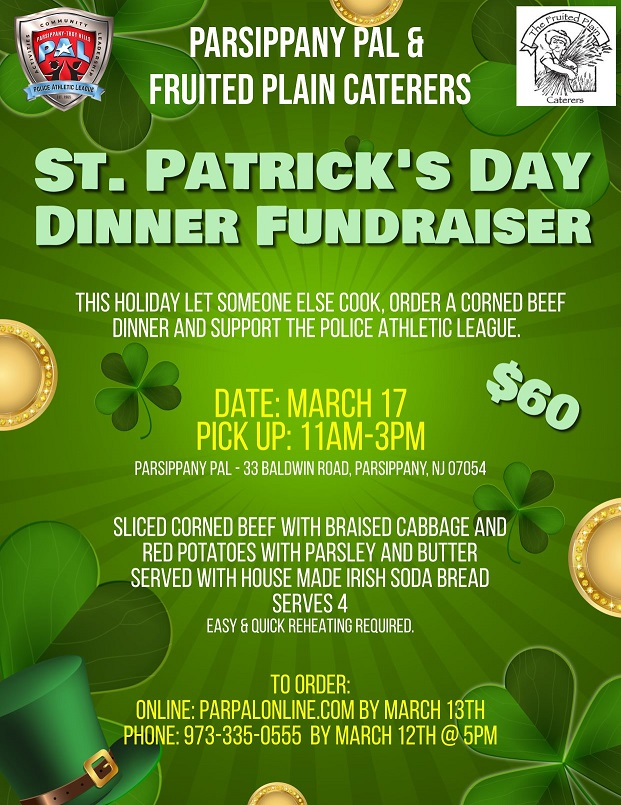 2021 St. Patrick's Day Dinner Fundraiser