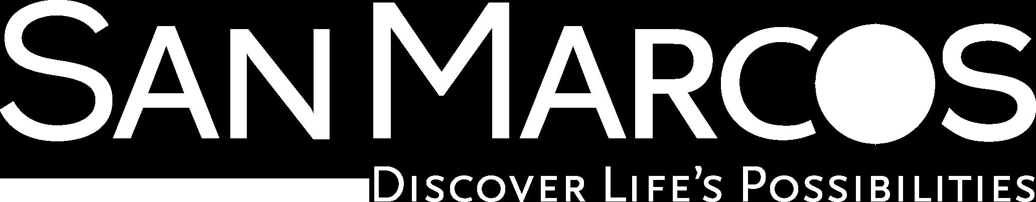 San Marcos Logo - White