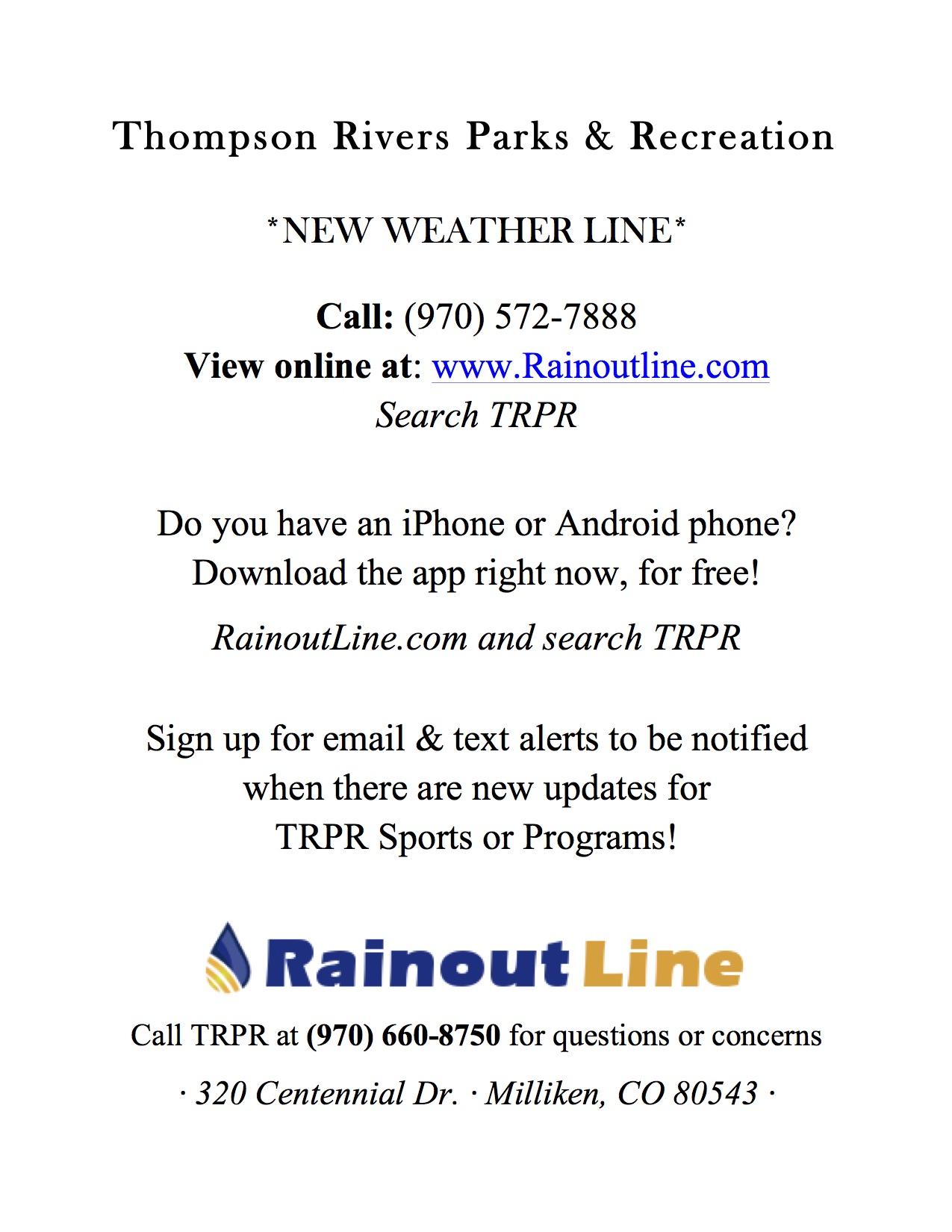 TRPR Rainout Line
