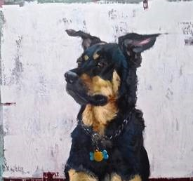 Stefanie Lieberman Animal Portrait in Oil